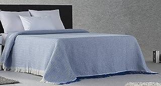 Plaidtor Nigeria Plaid Multiusos, Algodón, Azul, 230x270 cm
