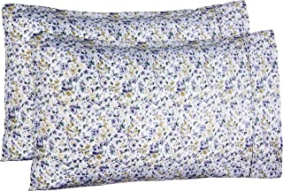 AmazonBasics Microfiber Pillowcases - 2-Pack, Standard, Blue Floral (20 x 30 inches or 51 x 76 cm)