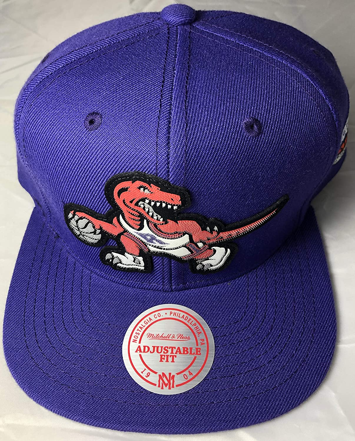 Tgoldnto Raptors HWC Mitchell & Ness NBA Snapback Cap Hat Purple