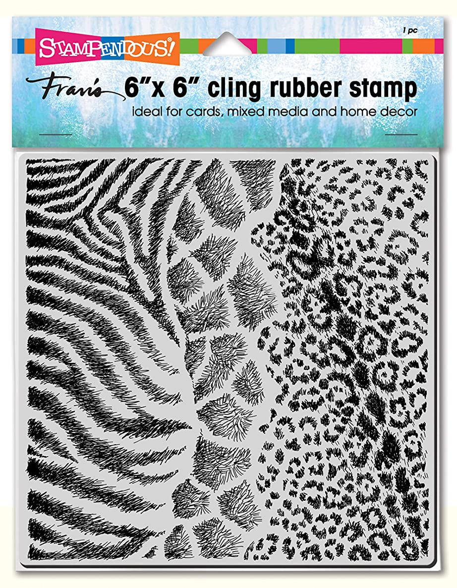 Stampendous 6CR014 Cling, Wild Texture, Stamp