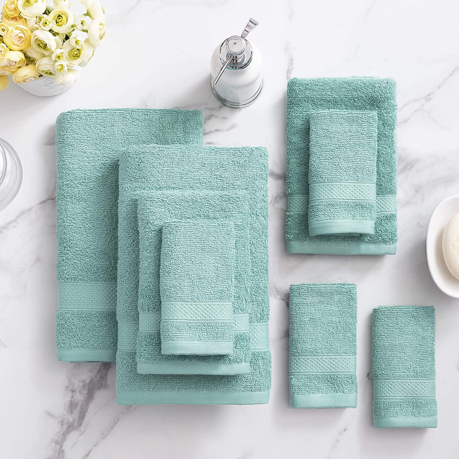 Welhome Basic 100% Cotton Towel Outlet ☆ Free Shipping Mesa Mall Duck Quick Piece Egg 8 Set -