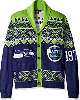 Seattle Seahawks 2015 Ugly Cardigan Medium