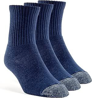 YolBer Men's Cotton Super Soft Quarter Cushion Socks - 3 Pairs