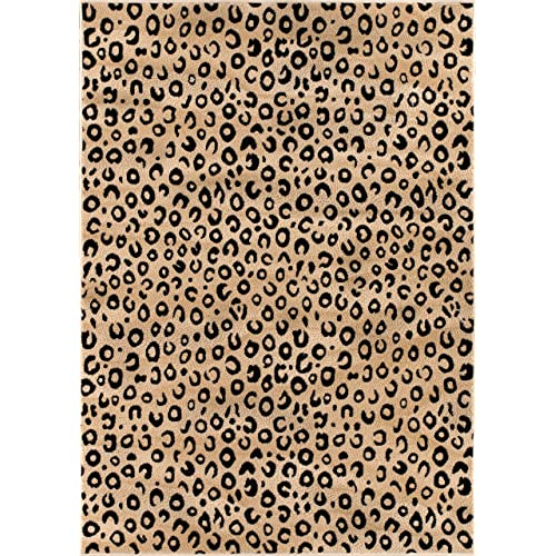 62c491a718 Well Woven Dulcet Leopard Black Ivory Animal Print Area Rug 5  X 7 2