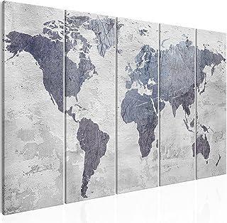 comprar comparacion murando - Cuadro en Lienzo Mapa del Mundo 200x80 cm Impresión de 5 Piezas Material Tejido no Tejido Impresión Artística Im...
