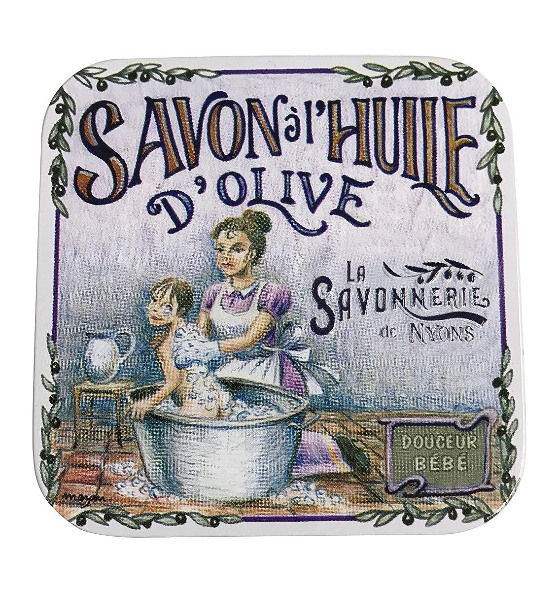 かかわらず地味な迫害するラ?サボネリー アンティーク缶入り石鹸 タイプ100 ハウスワイフ(ローズ)