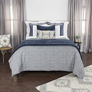 Rizzy Home Rizzy Home Giotto Quilted Bedding, QLTBQ4528GY001692, Grey, King
