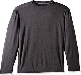 Russell Athletic Men's Long Sleeve Double-Dyed Peached Heathered Crew
