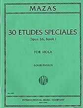 MAZAS Etudes Spéciales, Opus 36, Bk. 1 (PAGELS) for Viola IMC 1091