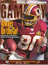 Washington Redskins Gameday Program, vs Carolina Panthers, FedEx Field (August 14, 2004)