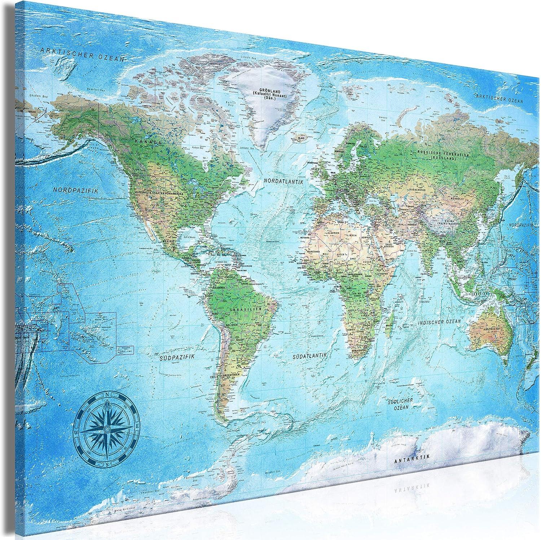 Decomonkey Mega Xxxl Weltkarte Wandbild Leinwand 165x110 Cm