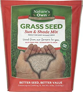 Mountain View Seeds Natures Own Sun & Shade Mix Grass Seed, 8-pounds