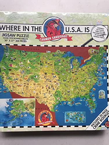 Where in the USA is Carmen Sandiego 300-teiliges Puzzle