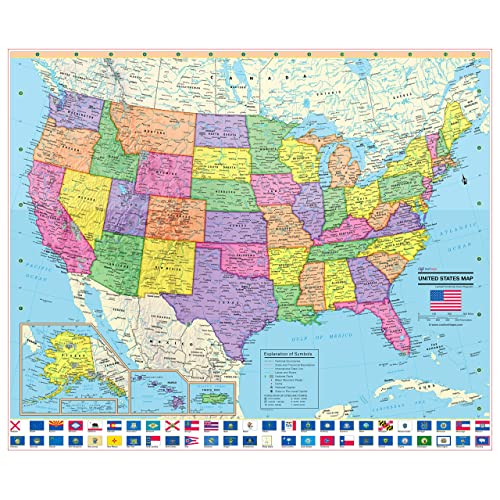 Maps with Major Cities: Amazon.com
