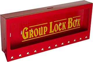 Brady Wall-Mount Group Lock Box for Lockout/Tagout, Large, 7