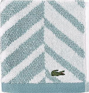 Lacoste Herringbone 100% Cotton Towel, 13x13 Wash Cloth, Celestial Blue