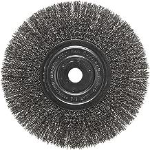 Weiler Trulock Narrow Face Wire Wheel Brush, Round Hole, Steel, Crimped Wire, 8