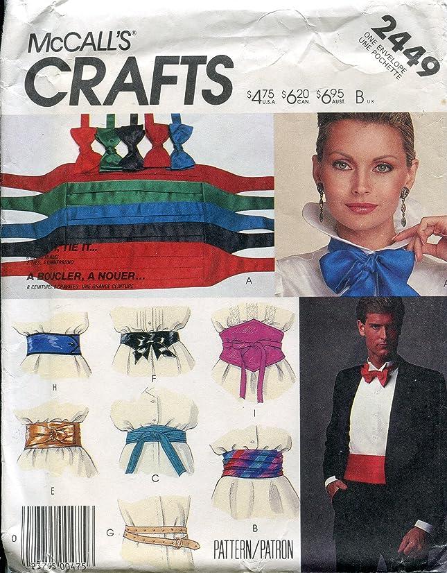 McCall's Crafts Pattern 2449 Belt & Tie Package