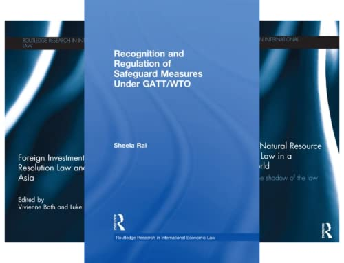 Routledge Research in International Economic Law (29 Book Series)