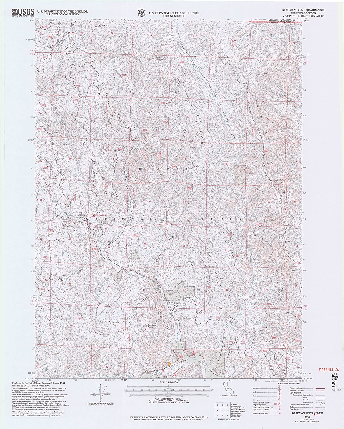 Deadman Point CA topo map, 1 24000 Scale, 7.5 X 7.5 Minute, Historical, 2001, Updated 2004, 27.2 x 21.8 in