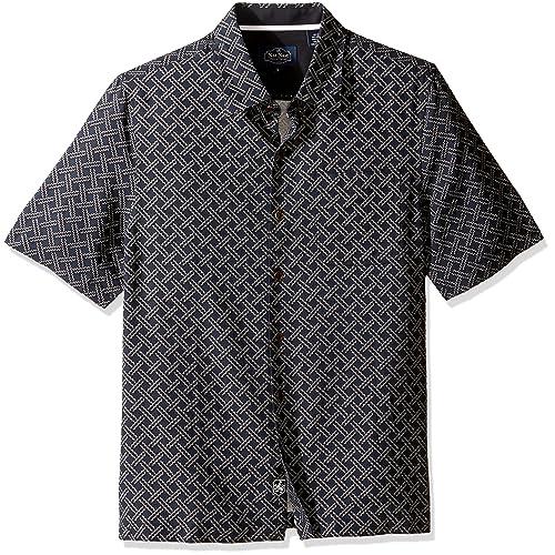 2b6fbaf9c519e3 Nat Nast Men s Neat Traditional Fit Print Shirt