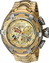 Invicta Men's Disney Limited Edition Quartz Watch with Stainless-Steel Strap, Gold, 29 (Model: 24659)