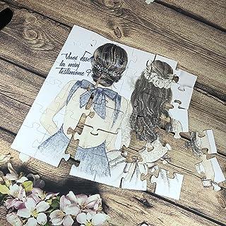 Vuoi essere la mia testimone/damigella? Puzzle biglietto per testimone o damigella di nozze matrimonio, personalizzato, di...