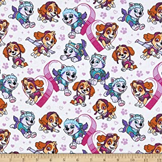 Great for Quilting Paw Patrol Teal Fat Quarter Pink White Yard Sewing /& DIY Crafts Purple 100/% Cotton 12 Yard
