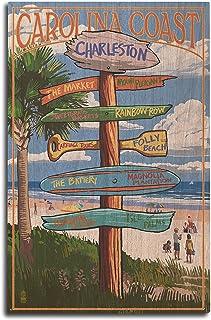 Lantern Press Charleston, South Carolina – Destinations Sign (10×15 Wood Wall..