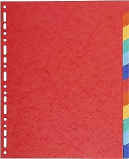 Exacompta - Réf. 2112E - Intercalaires en carte coloris vifs recyclée 220g/m2 avec 12 onglets neutres - Format à classer A...