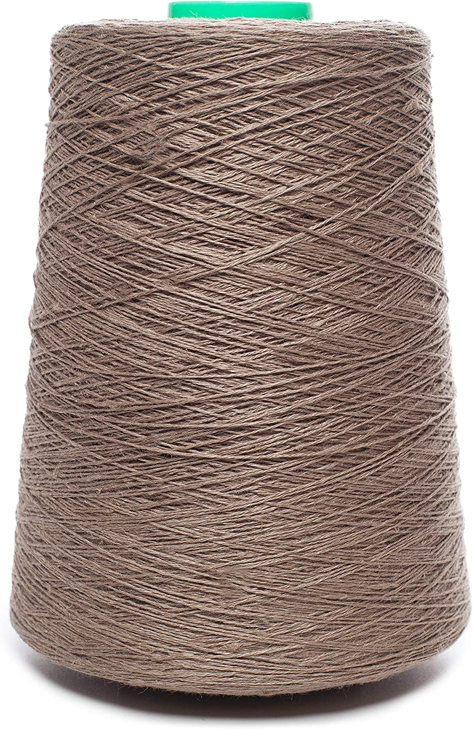 Linen Yarn Cone  100% Flax Linen  1 LBS  Beige Flax color  3 PLY  Sewing Weaving Crochet Embroidering  3.000 Yards