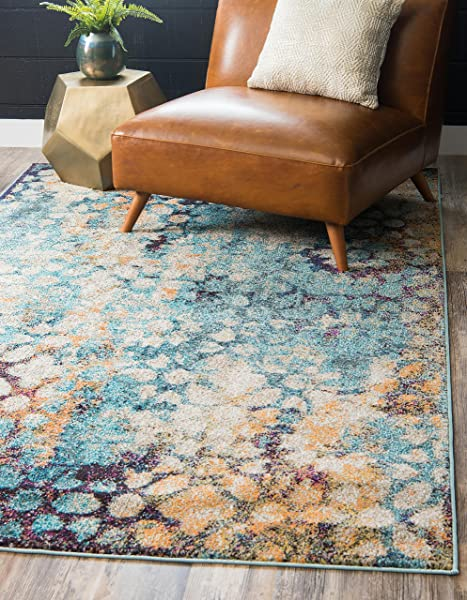 Unique Loom Vita Collection Traditional Over Dyed Vintage Blue Area Rug 9 0 X 12 0