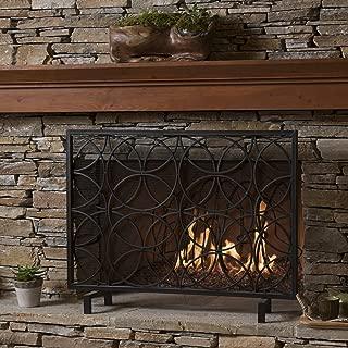 Christopher Knight Home Veritas Single Panel Black Iron Fireplace Screen