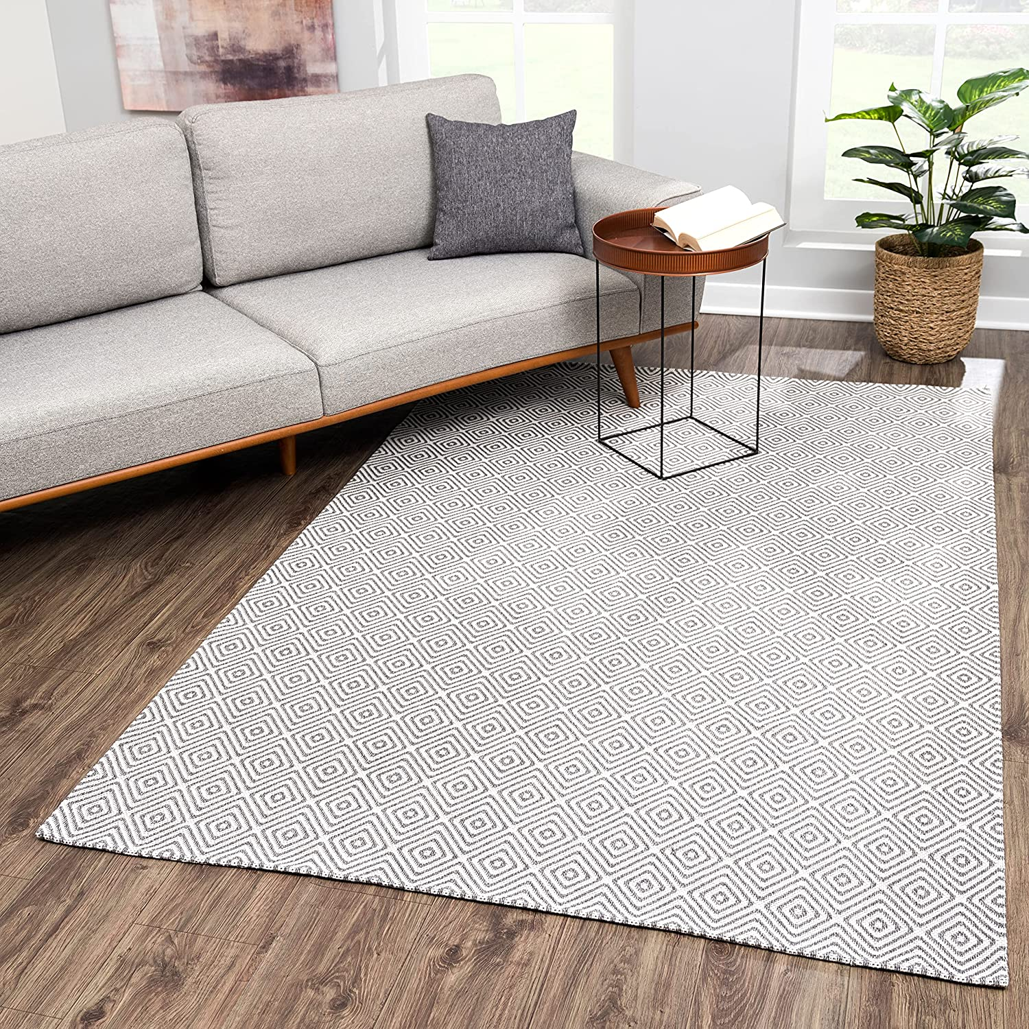 Natural Washable Cotton 5x8 Area Max 47% OFF Balco Kitchen A surprise price is realized Rug for Bedroom