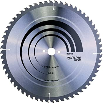250 x 30 x 3,2 mm pack de 1 Bosch 2 608 640 644 Hoja de sierra circular Optiline Wood 60