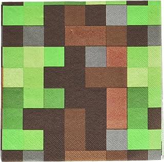 حفلة تي ان تي ان تي من ماسكان 511778! مناديل لانشون، 16 قطعة، هدية للحفلات، بني/أخضر، مقاس واحد (511778.0)
