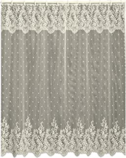 ivory lace shower curtain