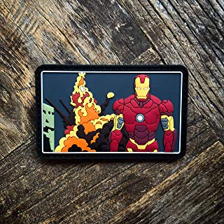 NEO Tactical Gear Ironman Glow in The Dark PVC Rubber Morale Patch – Hook Backed with Loop Attachment Piece That Can Be Sewn On