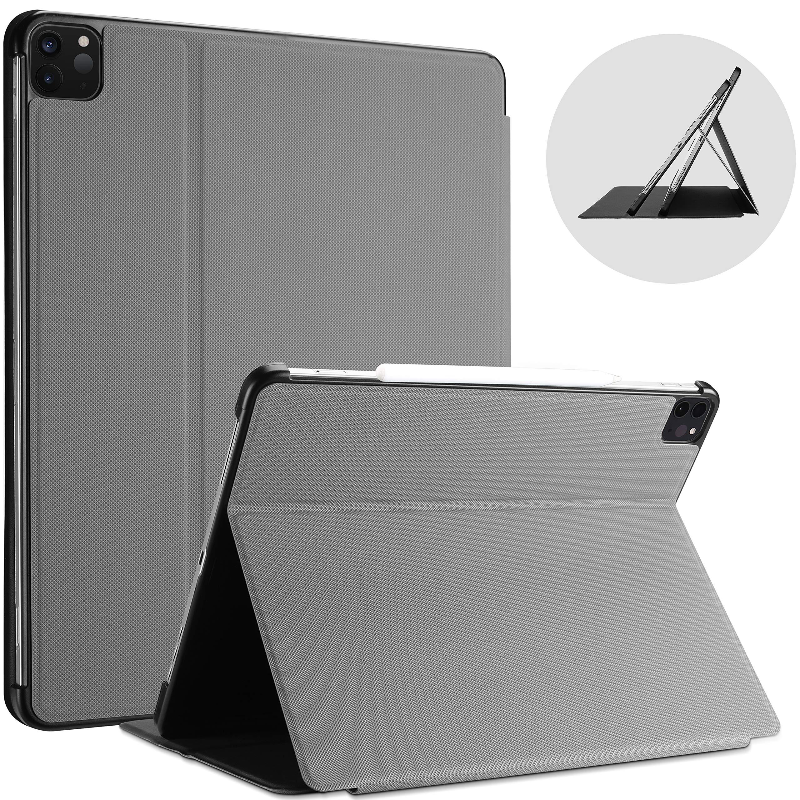 ProCase Funda Antideslizante iPad Pro 11 2.ª generación 2020, Estcuhe Delgado Apoya Cargar Apple Pencil 2, con Tapa Inteligente Carcasa Interna Flexible para iPad Pro 11