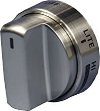 LG Electronics AEZ72909008 Gas Range Replacement Knob, Brushed Stainless Steel