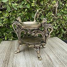 Aakrati Home Decor Diya Lamp Indian Brass Peacock Design Diya