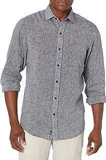 Buttoned Down mens Classic-fit Casual Linen Cotton Shirt