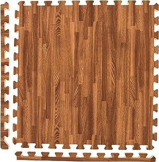Incstores – Premium Soft Wood Interlocking Foam Tiles (2'x2') –..