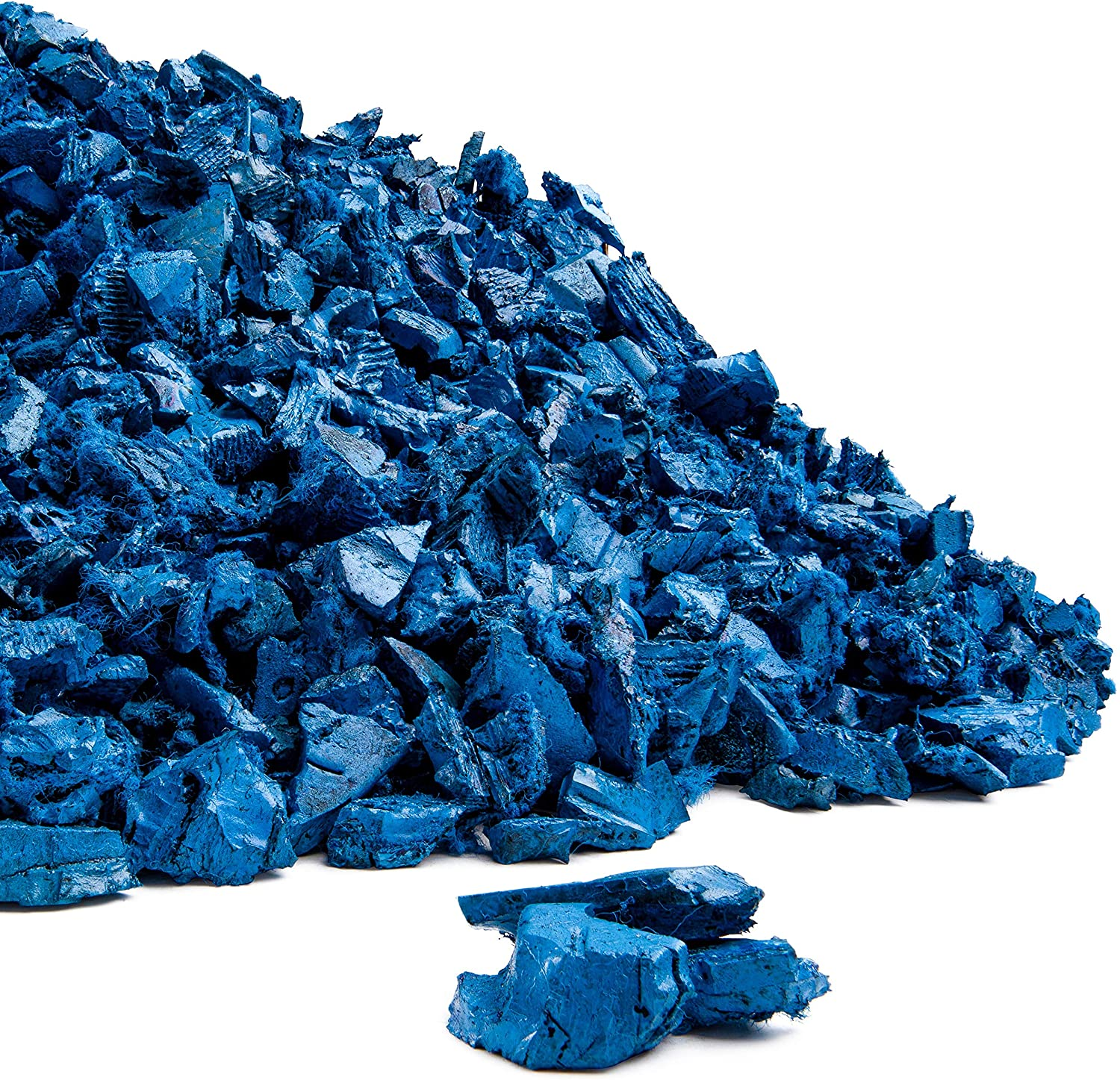 Playsafer Rubber Mulch Nuggets Protective Flooring for Playgrounds, Swing-Sets, Play Areas, and Landscaping (40 LBS - 1.55 CU. FT, Blue)