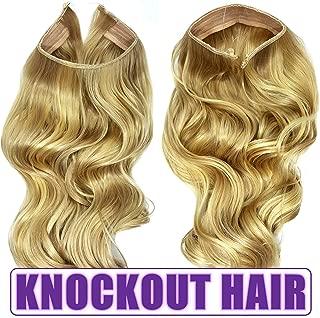 Knockout Hair 20-Inch Fiber Wavy Hair Extensions, 150 Grams, #16/613 - Medium Cool Blonde/Lightest Blonde Mix