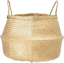 Bloomingville A82042463 Seagrass Basket, Large, Gold