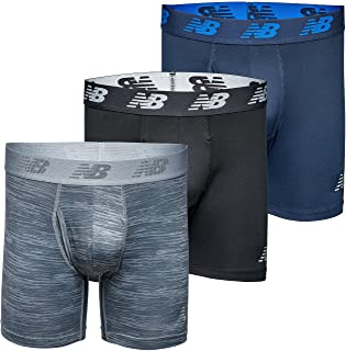 """New Balance 6 """"Boxer Brief Fly Front Front with Pouch، 3-Pack"""