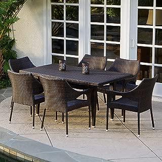 Best 7 piece outdoor dining set wicker Reviews