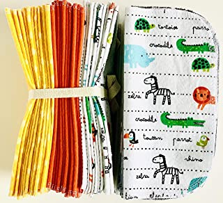Baby Shower Gifts Ideas Cloth Baby Wipes Starter Kit Re Usable Cloth Wipes Jumping Sheep Reusable Cloth Napkin Reusable Dryer Sheets Set of 3 Dozen Wipes Eco Friendly