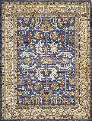"Nourison Majestic Blue Multicolor Vintage Area Rug 9'6"" x 12'8"", Denim"